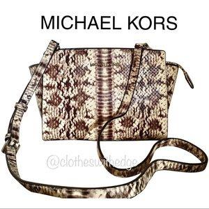 ⬇️ NWT Michael Kors Selma Python Crossbody Bag
